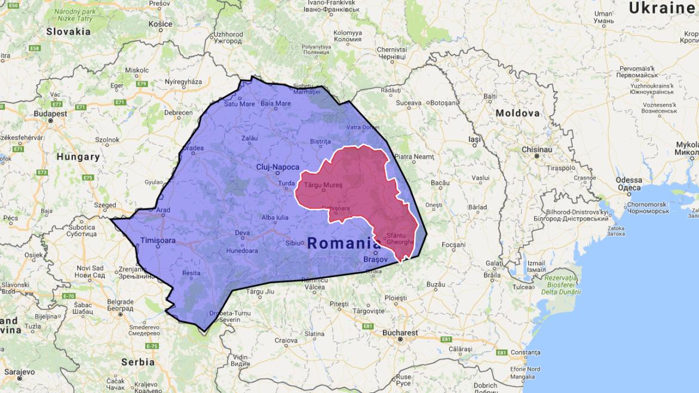 Ținutul Secuiesc, pe Google Maps. Cum a ajuns regiunea pe hărțile companiei