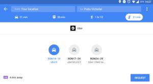 De acum, poți chema un Uber direct din Google Maps și în România
