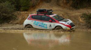 Nissan Leaf este prima mașină electrică dintr-un raliu de 16.000 de kilometri [VIDEO]