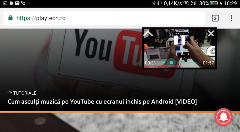 Cum te uiți la YouTube în fereastră pe Android când faci altceva [VIDEO]