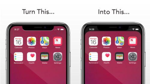 O nouă aplicație te scapă de bara neagră de la iPhone X