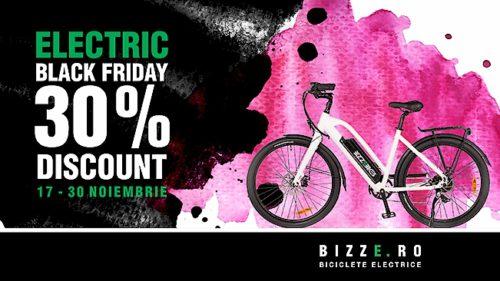 Electric Black Friday pentru clienții Bizze: Cumpără-ți bicicleta electrică la super preț! [P]