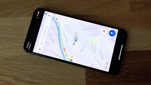 iPhone X Google Maps