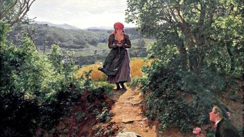 Femeia cu iPhone într-un tablou din 1860 tocmai a devenit subiect de conspirație pe net