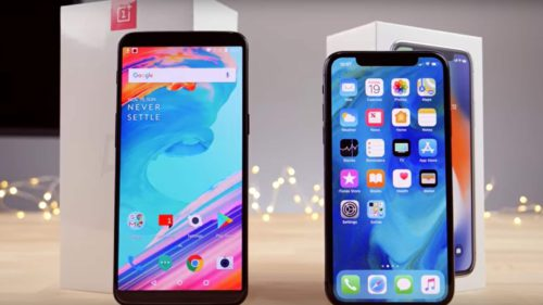 oneplus-5T-vs-iphone-x-speed-test