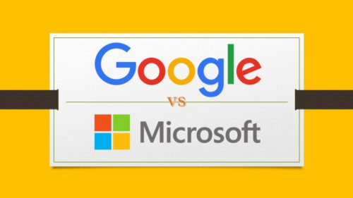 Google vs Microsoft Windows 10